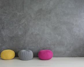 wełniane pufy